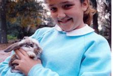 Jamie Veronica with Bunny