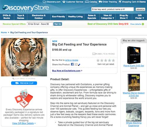 Discovery Channel Big Cat Rescue Tour