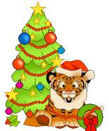 big cat christmas
