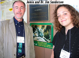 Jim Sanderson w/Big Cat Rescue President, Jamie Veronica