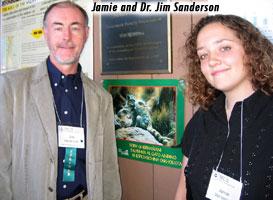 Jim Sanderson w/Big Cat Rescue President, Jamie Veronica