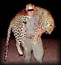 Evil Hunter Who Has Killed a Beautiful Leopard