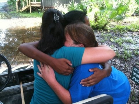Interns Hug Each Other Goodbye