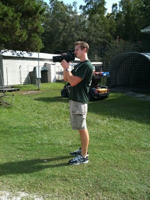 Chris, the Videographer Filming Departure