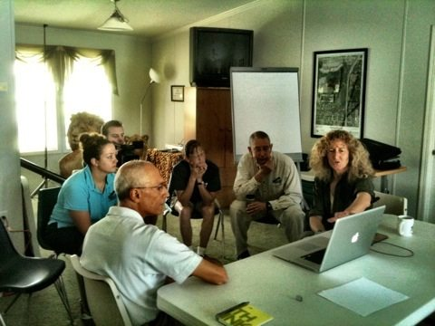 Sky and Zoe from http://wildtrack.org present to Big Cat Rescue staff their FIT system