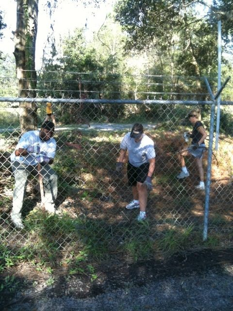 University of MO Alumni Help With Fence Clearing