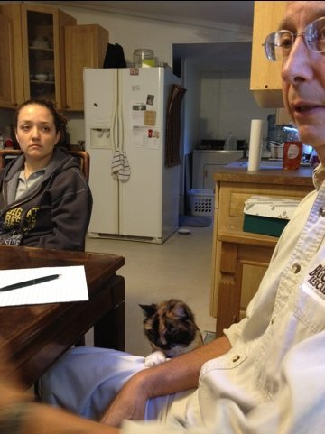 Callie the cat asks to be heard in Staff Meeting