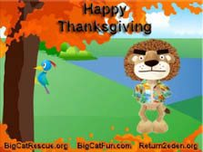 Thanksgiving eCard - Dancing Lion