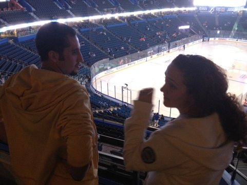 Tampabay Lightning told us Howie's interview would be on the Jumbotron