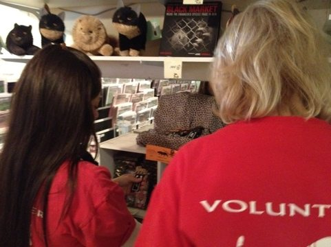 Volunteers of all shirt colors and experience levels helped with inventory