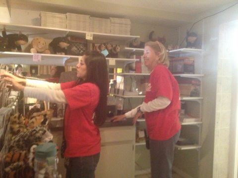 Volunteers help out with Inventory of the Big Cat Trading Post