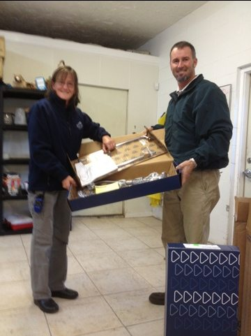 Thanks to John of Hughes Supply and Jona from T&S Brass for the donation of 3 new sprayer faucets for food prep!