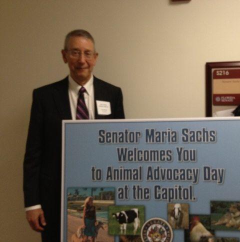 Howard Baskin on the Senate side speaking to Senators about animal protection