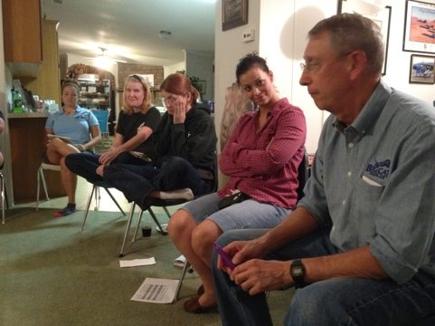 Jamie, Chelsea, Willow, Jen and Howie at Staff - Committee Meeting
