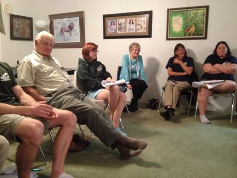 Denny, Becky, Edith, Gale and Honey at Staff - Committee Meeting