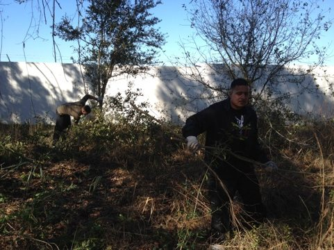 Army volunteers make quick work of the clearing project