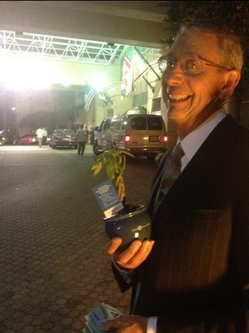 Howard at banking event for mega clients gets a Money Tree