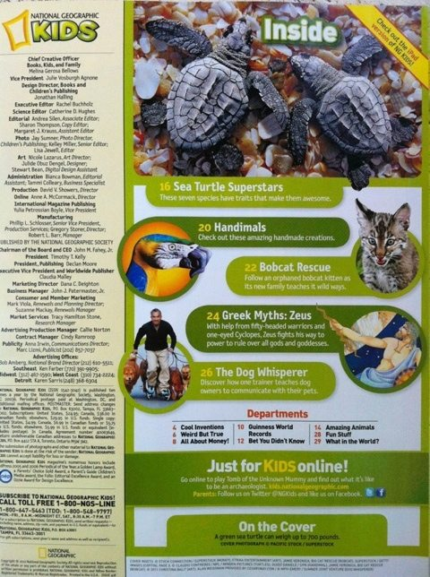 Rehab baby bobcat featured in National Geographic Kids Magazine