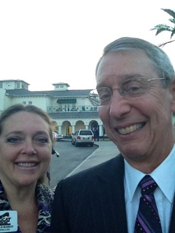 Carole and Howie out from of Tampa Palms Golf & Country Club for event