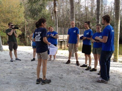 The frozen tee shirt contest is always fun