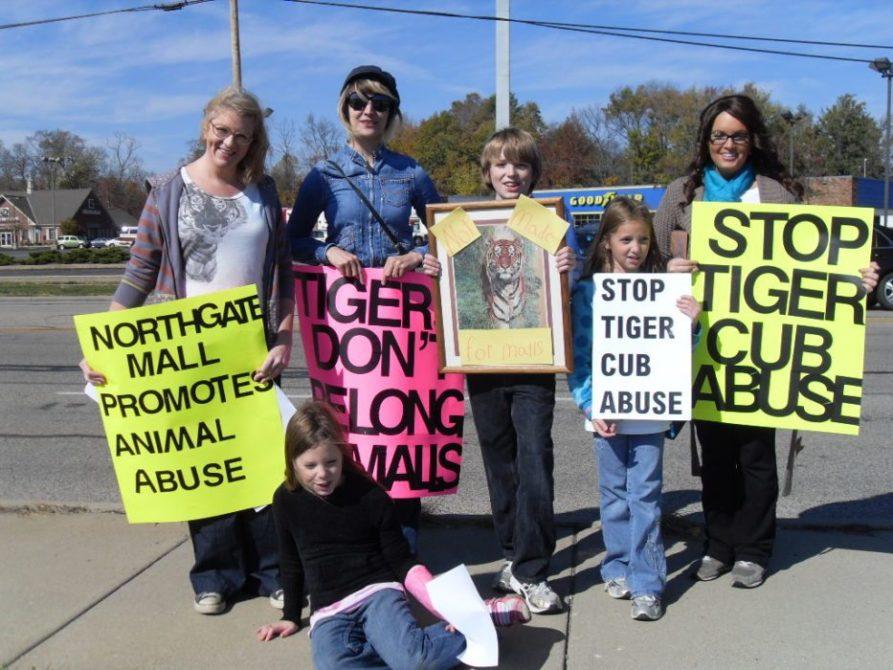 Protesting Cub Petting Displays