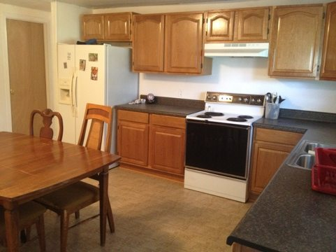 ...to the big kitchen and dining area that is shared by interns...