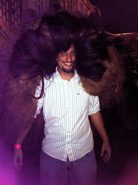 Dr Justin Boorstein dons the mane at the Mane Event fundraiser