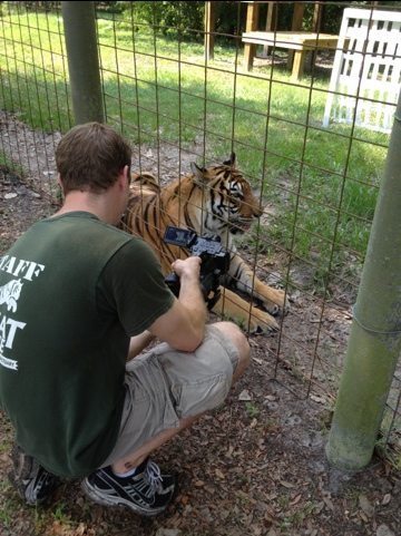 Chris filming Shere Khan and China Doll
