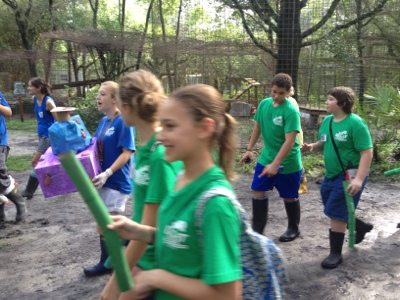 Summer Campers make enrichment to give the cats of Big Cat Rescue