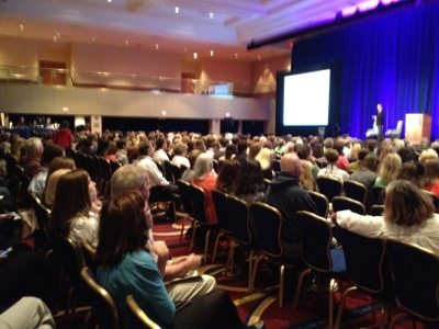 Howard Baskin presented 10 minutes on the plight of big cats in America to the entire Plenary group.