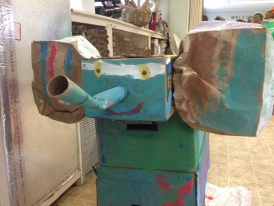 Summer campers made this elephant enrichment for the cats