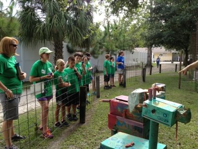 Summer campers make enrichment for the tigers