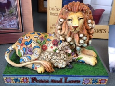 This cute little lion statue was at Blue Pearl