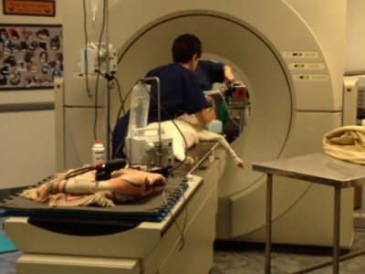A CT is done on Tonga to see how deeply cancer has spread in nose