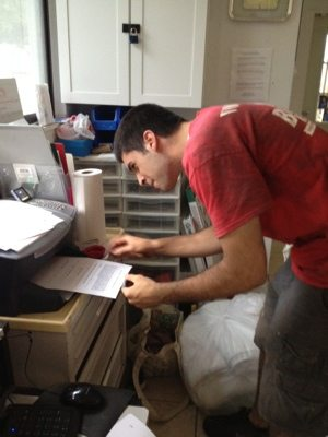 Printing off classes for training at the sanctuary