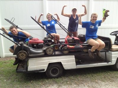 Big Cat Rescuers can even make mowing fun!