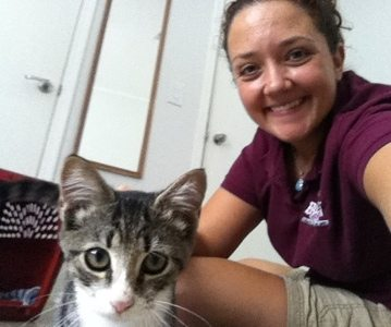 Jamie Veronica rescues a stray, fixes her and finds her a home