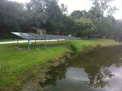 Solar panels soaking up the Florida sun and turning it into cash