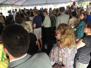 Standing room only at ribbon cutting of Humane Society of Tampabay
