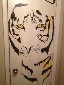 Even the bathrooms at Big Cat Rescue are full of tigers