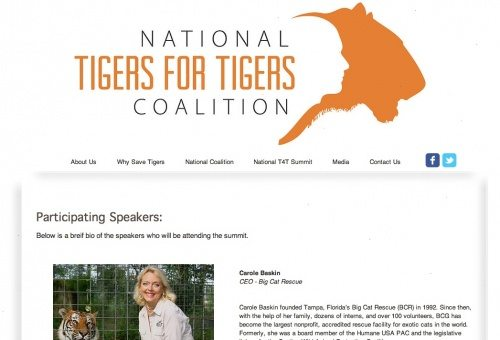 Carole Baskin speaks at Tigers for Tigers