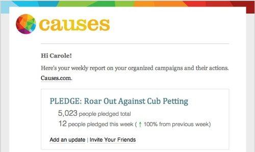 Pledge To Stop Cub Petting