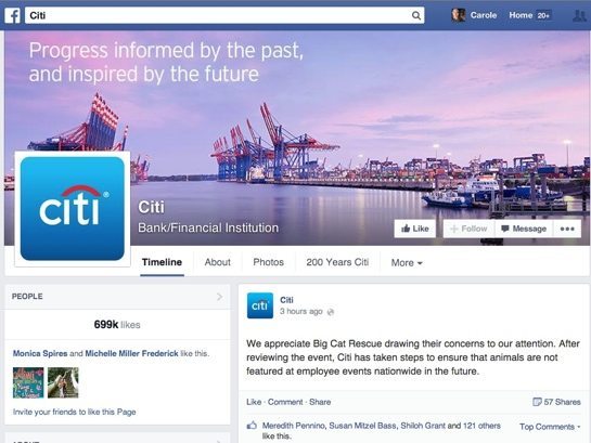 Citi Bans Wild Animals