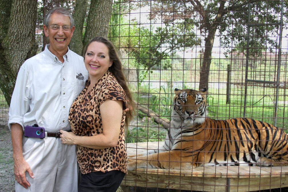 Photo of Howard and Carole Baskin at Big Cat Rescue