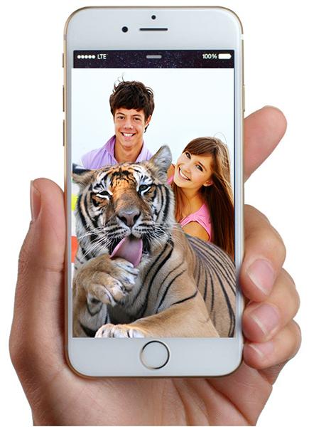 Tiger Selfie Ad Phone