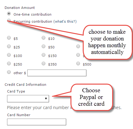 paypal recurrning donations
