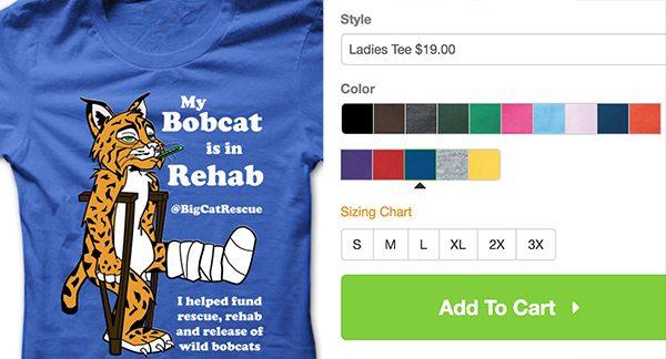 Mr Claws Bobcat Rehab Tee