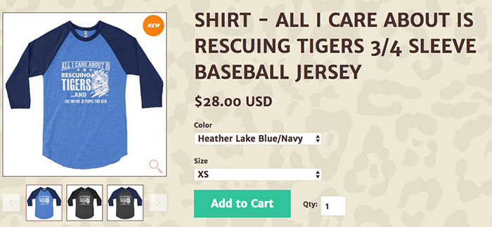all i care about tigers
