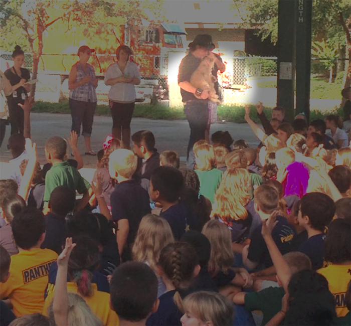 alert tiger pimped Auburndale school