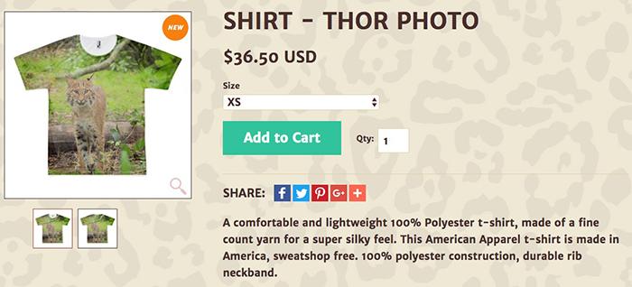 Thor photo tee